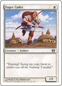 Magic the Gathering Eighth Edition Single Card Common #1 Eager Cadet