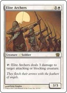 Magic the Gathering Eighth Edition Single Card Rare #18 Elite Archers
