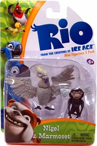 Rio Movie Mini Figures 2-Pack Nigel & Marmos