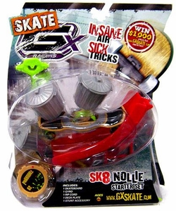GX Racers Skate SK8 Nollie Stunt Starter Set with Phantomz 62 Deck Plate [Bullet Board] BLOWOUT SALE!