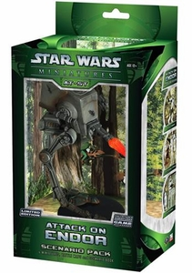 Star Wars Miniatures Game Limited Edition Scenario Pack Attack on Endor AT-ST Scout Walker