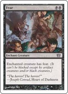Magic the Gathering Eighth Edition Single Card Common #134 Fear