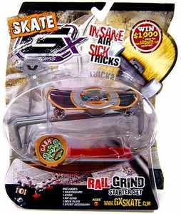 GX Racers Skate SK8 Rail Grind Stunt Starter Set with Cash Big Money Deck Plate [Free Ride Board] BLOWOUT SALE!