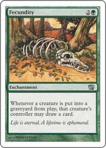 Magic the Gathering Eighth Edition Single Card Uncommon #247 Fecundity