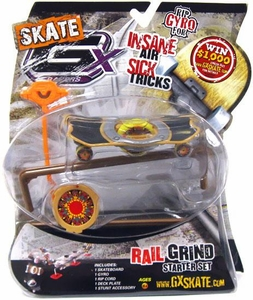 GX Racers Skate SK8 Rail Grind Stunt Starter Set with Flame Retardant 55mm Deck Plate [Arrowhead Board] BLOWOUT SALE!