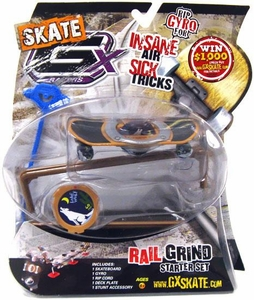 GX Racers Skate SK8 Rail Grind Stunt Starter Set with Lone Wolf 60mm Deck Plate [Arrowhead Board] BLOWOUT SALE!