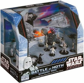 Star Wars Miniatures Game Battle of Hoth Scenario Pack [Contains 17 Miniatures]