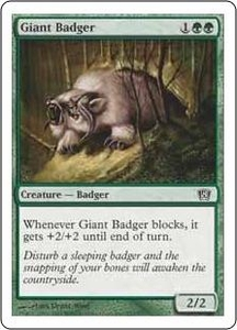 Magic the Gathering Eighth Edition Single Card Common #253 Giant Badger