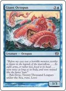 Magic the Gathering Eighth Edition Single Card Common #3 Giant Octopus