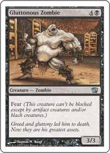 Magic the Gathering Eighth Edition Single Card Uncommon #136 Gluttonous Zombie