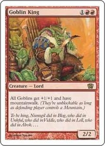 Magic the Gathering Eighth Edition Single Card Rare #190 Goblin King
