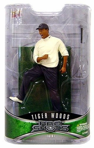 Upper Deck Pro Shots Series 1 Action Figure Tiger Woods #1 [Leg Up 1997 Masters Victory]