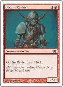 Magic the Gathering Eighth Edition Single Card Common #191 Goblin Raider
