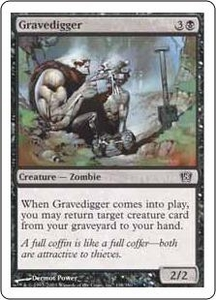 Magic the Gathering Eighth Edition Single Card Common #138 Gravedigger