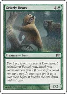 Magic the Gathering Eighth Edition Single Card Common #256 Grizzly Bears