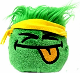Disney Club Penguin 4 Inch Series 11 Online Exclusive Plush Puffle Green with Yellow Bandana [Includes Coin with Code!]