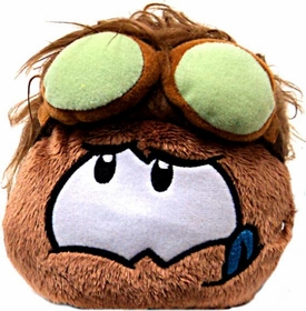 Disney Club Penguin 4 Inch Series 11 Online Exclusive Plush Puffle Brown with Goggles [Includes Coin with Code!]