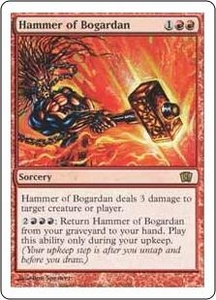 Magic the Gathering Eighth Edition Single Card Rare #193 Hammer of Bogardan