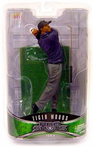 Upper Deck Pro Shots Series 2 Action Figure Tiger Woods #4 [Iron Shot Finish]
