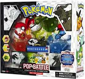 Pokemon Black & White Series 1 Pop n Battle Ultimate 3-Pack with Snivy, Tepig & Oshawott