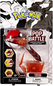 Pokemon Black & White Series 1 Pop n Battle Launcher & Attack Target Tepig