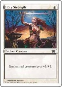 Magic the Gathering Eighth Edition Single Card Common #24 Holy Strength