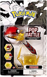 Pokemon Black & White Series 1 Pop n Battle Launcher & Attack Target Pikachu