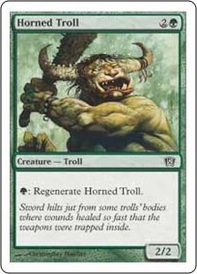 Magic the Gathering Eighth Edition Single Card Common #257 Horned Troll