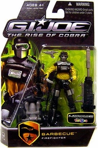 GI Joe Movie The Rise of Cobra 3 3/4 Inch Exclusive Action Figure Barbecue [Firefighter]