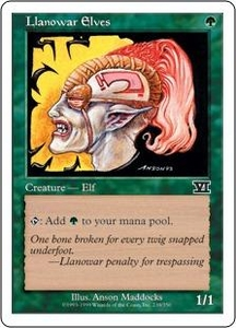 Magic the Gathering Starter 2000 Single Card Common Llanowar Elves