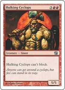 Magic the Gathering Eighth Edition Single Card Uncommon #195 Hulking Cyclops