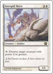 Magic the Gathering Eighth Edition Single Card Rare #26 Intrepid Hero