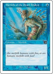 Magic the Gathering Starter 2000 Single Card Common Merfolk of the Pearl Trident