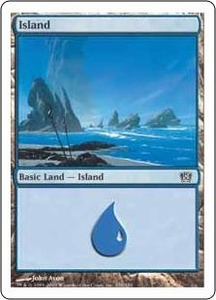 Magic the Gathering Eighth Edition Single Card Land #335 Island [Random Artwork]