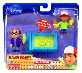 Handy Manny Fix-It-Right Figure 2-Pack Ice Cream Cart