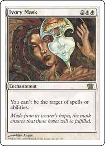 Magic the Gathering Eighth Edition Single Card Rare #27 Ivory Mask