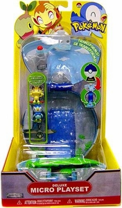Pokemon Deluxe Micro Playset Waterfall [Includes Meowth, Piplup & Starly Micro Figures]