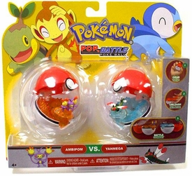 Pokemon Pop n Battle Poke Ball 2-Pack Ambipom & Yanmega