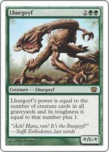 Magic the Gathering Eighth Edition Single Card Rare #259 Lhurgoyf