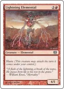 Magic the Gathering Eighth Edition Single Card Common #201 Lightning Elemental