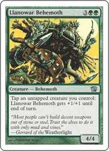 Magic the Gathering Eighth Edition Single Card Uncommon #261 Llanowar Behemoth