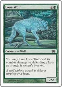 Magic the Gathering Eighth Edition Single Card Common #262 Lone Wolf