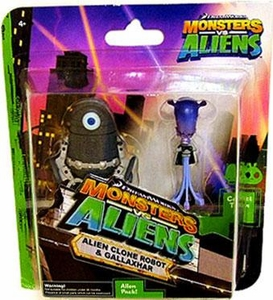Monsters vs. Aliens Mini Figure 2-Pack Alien Clone Robot & Gallaxhar
