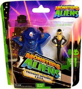 Monsters vs. Aliens Mini Figure 2-Pack President Hathway & B.O.B.