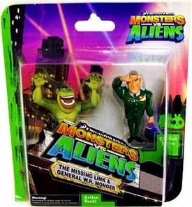Monsters vs. Aliens Mini Figure 2-Pack The Missing Link & General W.R. Monger
