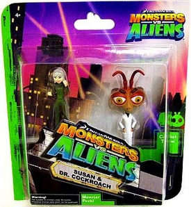 Monsters vs. Aliens Mini Figure 2-Pack Susan & Dr. Cockroach