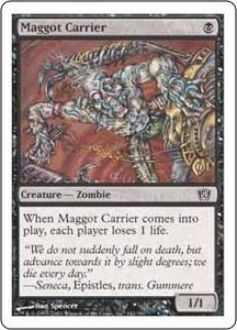 Magic the Gathering Eighth Edition Single Card Common #142 Maggot Carrier
