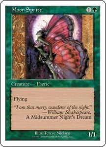 Magic the Gathering Starter 2000 Single Card Uncommon Moon Sprite