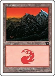 Magic the Gathering Starter 2000 Single Card Land Mountain [Random Artwork]