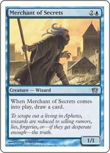 Magic the Gathering Eighth Edition Single Card Common #90 Merchant of Secrets